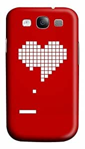 8 Bit Heart Valentines Day Custom Polycarbonate Hard Case Cover for Samsung Galaxy S3 SIII I9300
