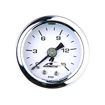 Increment MOROSO 65370 Fuel Pressure Gauge Alcohol Fuel Safe 0-15 psi 1//4 lb