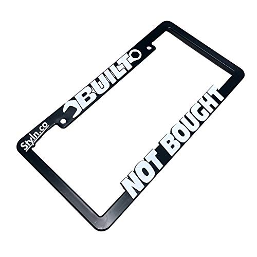 STYLN Built NOT Bought License Plate Frame (Frame Plate License Sticker Bomb)