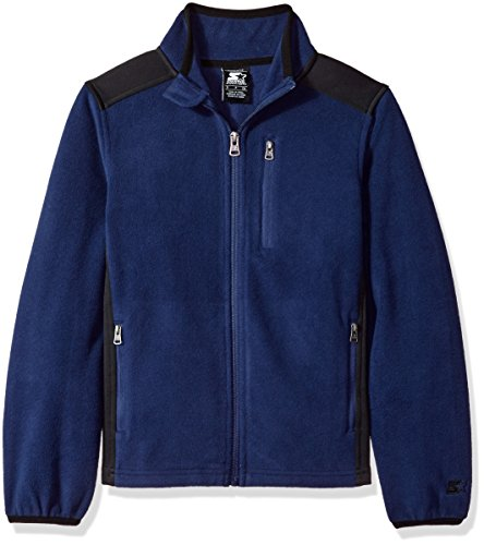 Starter Boys' Polar Fleece Jacket, Prime Exclusive, Team Navy, L (Kids Polar Fleece)