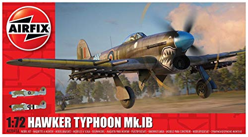 Airfix Hawker Typhoon Ib 1:72 WWII Military Aviation Pastic Model Kit A02041A