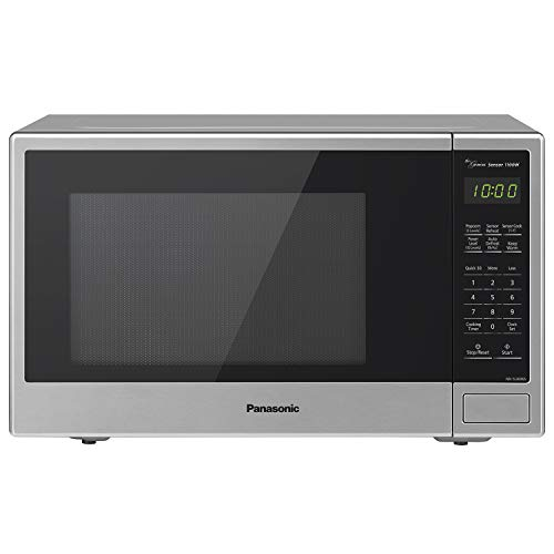 Panasonic Microwave Oven NN-SU696S Stainless Steel Countertop/Built-In with Genius sensor and Easy Popcorn Button 1.3 cu. ft, 1100W