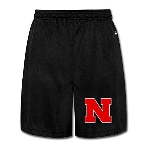Kep Men's Nebraska Cornhuskers Football Mike Riley Joggers Shorts Black