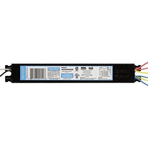 T8 Ballast 277 Fluorescent (Advance ICN-4P32-SC Electronic Fluorescent Ballast, 4 Lamp, 32W T8, 120/277V (10-Pack))