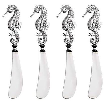 Cuchillos para untar mantequilla bañados en plata con diseño ...