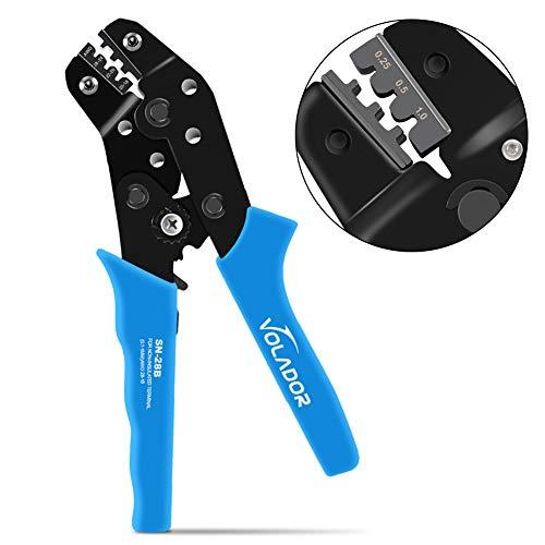 Crimping Tool, Volador Self-Lock SN18-28B Dupont Ratchet Wire Crimper...