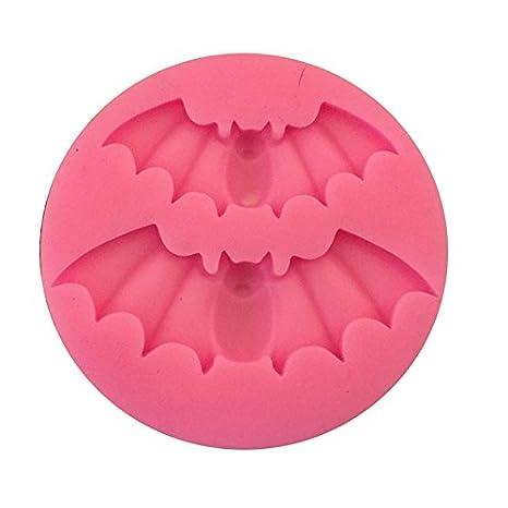 Nikgic Molde de silicona para repostería, con decoración de Halloween, Alas, 5.2*4cm: Amazon.es: Hogar