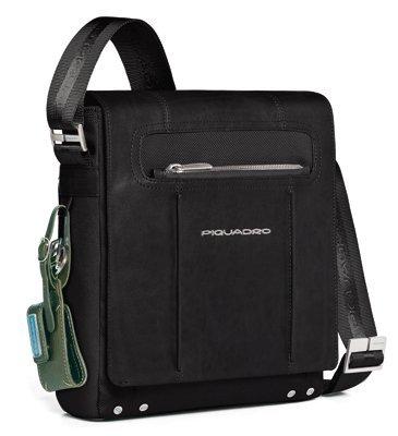 c89eff5685 Tracolla verticale Piquadro Link nero porta iPad/iPad®Air con patta  CA1593LK/N: Amazon.it: Scarpe e borse