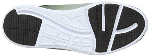 KangaROOS BlueLight 2002 - zapatilla deportiva de material sintético infantil negro - Schwarz (black/lime 580)