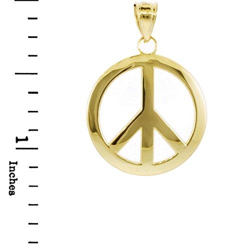 10 ct 471/1000 Or Symbole de la Paix Pendentif (L) Pendentif