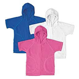 i play. Baby Zip-Up Hoodie Coverup, Hot Pink, 18-24 Months