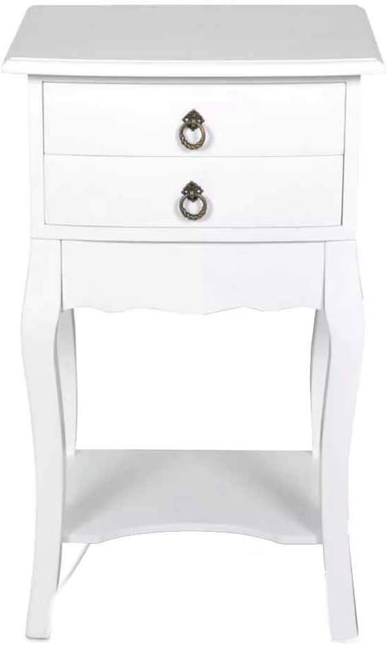 Bianco 45x35x70 cm Pieffe Mobili Francesino Comodino Faggio