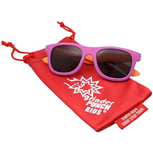 grinderPUNCH KIDS Children's Rubber Super Flexible Polarized Sunglasses (Age 0-3) - Sunglasses Roshambo