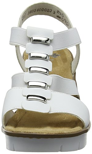 Rieker Women's V5545 Closed Toe Sandals, Pacific, 3.5 UK White (Weiss 80)