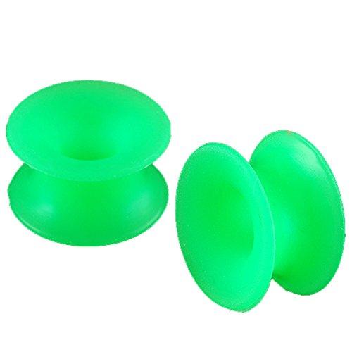 Paire oreille elargisseur lobe flesh plug tunnel écarteur vert silicone 12mm bijouterie piercing FGOC