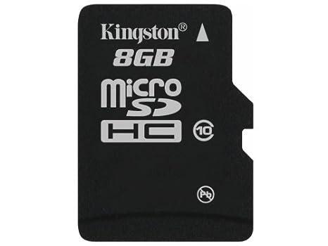 Kingston SDC10/8GBSP - Tarjeta Micro SDHC de 8 GB, Clase 10