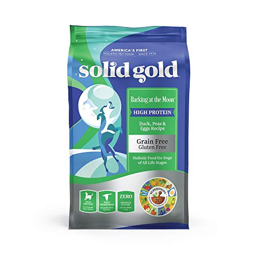 Solid Gold Barking at The Moon Duck Egg & Peas High Protein Grain Free Dry Dog Food, 22 lb
