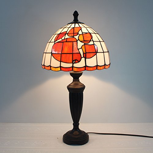 Stained Desk Tigers Glass - Royal- 12-inch NCAA Clemson Tigers Stained Stained Glass Table Lamp
