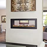 CLEARion Built-in See-Thru Electric Fireplace with Black Surround