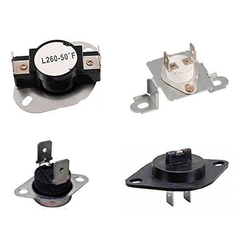 EXP8767WA Maytag, Whirlpool, Amana Dryer Thermostat Kit Replaces WP35001193, 35001193, WP35001092, 35001092, WP35001087, 35001087, WP35001191, (Amana Clothes Dryer Thermostat)