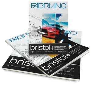 Fabriano Bristol+ Pad (20 sheets) 14x17''