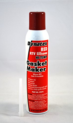 Dynatex 49272 Low Volatile RTV Silicone Gasket Maker, 0 to 650 Degree F, 8 oz Automatic Can, Red by Dynatex