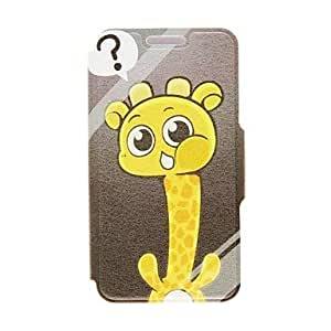 Kinston Giraffe's Question Pattern PU Leather Full Body Case with Stand for Google LG Nexus 5