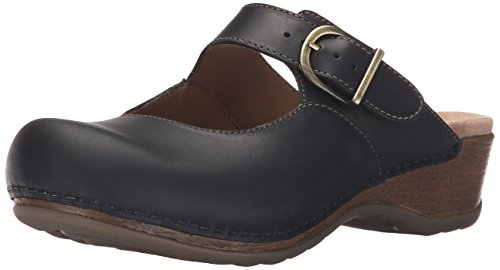 Dansko Women's Martina Mule, Black Oiled, 41 EU/10.5-11 M US (Black Clog Oiled)