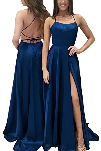 Navy Blue Taffeta Dress - 8