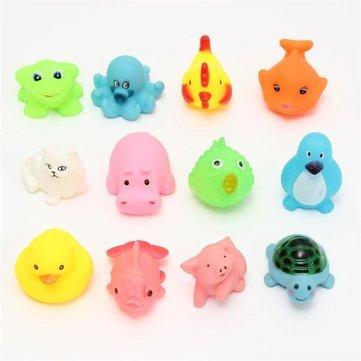 12pcs Juguetes de flotador de goma mixed diferentes Cute Animal Baño Lavado Educación Infantil de ducha natación regalos: Amazon.es: Juguetes y juegos