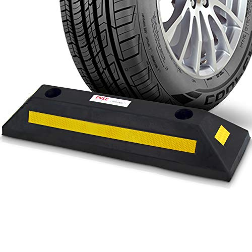 - Curb  Garage Vehicle Floor Stopper  for Parking Safety  1PC Heavy Duty Rubber Parking Lot Driveway  Stopper, For Car Vans Trucks Tire Wheel Guide Block Protect  Bumper- Pyle PCRSTP11
