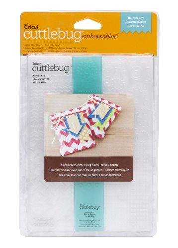 Cuttlebug Embossing Borders (Cuttlebug Cricut Embossing Folder and Border, 5 by 7-Inch, Being a Boy)