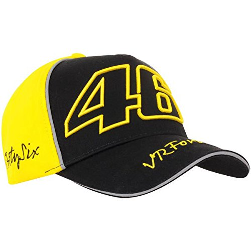 Gorra VALENTINO ROSSI VR|46 amarilla y negra con cierre velcro - ORIGINAL 100%: Amazon.es: Ropa y accesorios