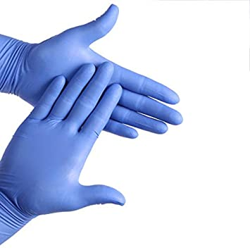 Weanty 100Pcs Disposable Gloves Nitrile Gloves Powder Fee Latex Free Hospital Quality Medical Grade Disposable Examination Gloves Nonsterile Ambidextrous Commercial use Size S Pink