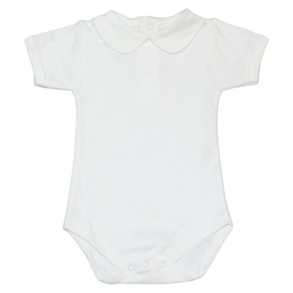 5c5948cfe3b9 A CHARMING WARDROBE ESSENTIAL: This rounded collar bodysuit is perfect for  layering under overalls, baby knits, sweaters, or worn on its own as an  adorable ...