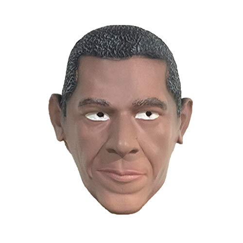 JGBHPNYX Celebrity Mask Obama Latex Head Cover Funny Masquerade Headdress