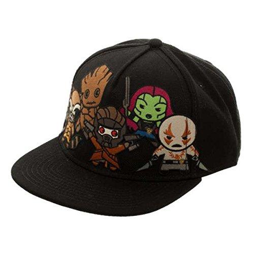 Zoe Saldana Guardians Of The Galaxy Costume - BIOWORLD Marvel Comics Kawaii Guardians of the Galaxy Snapback Hat