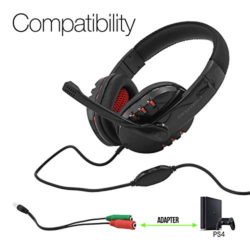 🥇 Woxter Stinger FX 80 H – Auriculares Gaming 2.0 con Micrófono para PS4 – PC – Xbox One – Switch…