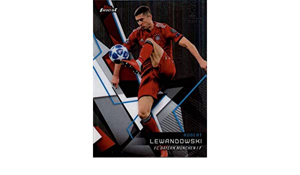 Amazon.com: 2018-19 Finest UEFA Champions League #19 Robert Lewandowski FC Bayern Munchen Soccer Trading Card: Collectibles & Fine Art