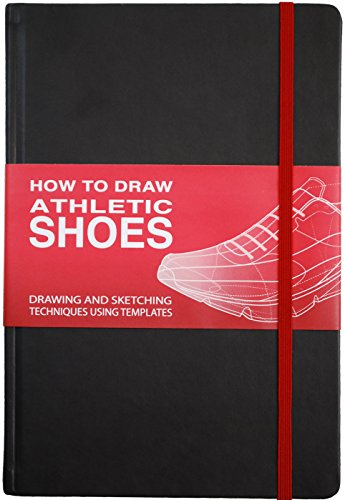 How To Draw: ATHLETIC SHOES Sketchbook -Black