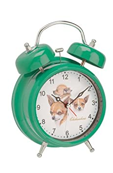 Chihuahua Vintage Double Bell Dog Alarm Clock