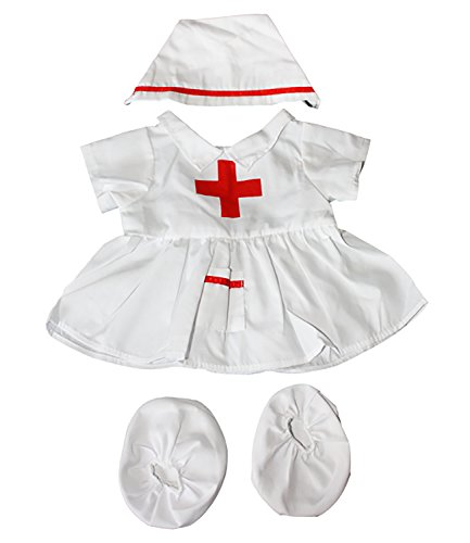 """Nurse outfit Teddy Bear Clothes Fits Most 14"""" - 18"""" Build-A-Bear and Make Your Own Stuffed Animals from Stuffems Toy Shop"""