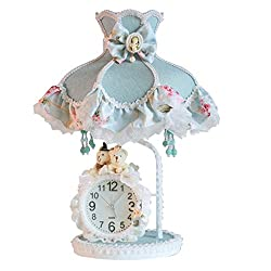 Table Lamps Outdoor Lighting Cloth Lace Rural with Clocks Creative Children's Lights Northern Europe 10 19 inch A+++