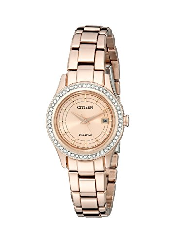 Citizen Eco-Drive Women's FE1123-51Q Silhouette Crystal Rose Gold Watch