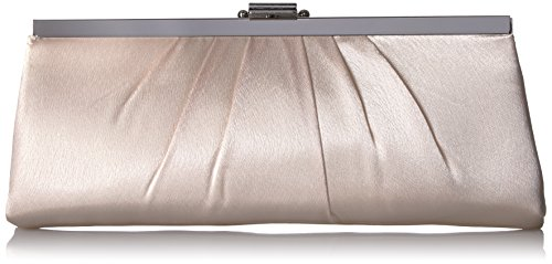 Jessica McClintock Blaire Satin Frame Evening Clutch, Champagne by Jessica McClintock