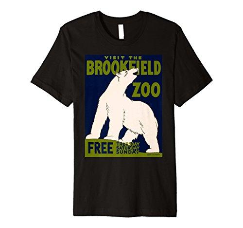 Vintage poster - Visit the Brookfield Zoo Retro T-Shirt (Visit Brookfield Zoo)