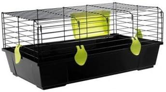 Voltrega Jaula conejo 526 negra plegable