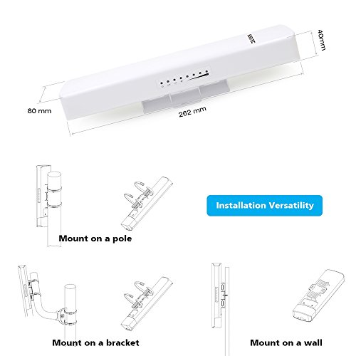 SEEKNET 2.3-2.7GHz 300Mbps Indoor/Outdoor CPE/Wireless Access Point High Power 2x14 dBi, Waterproof IP63, Passive PoE Injector(Included) by Seeknet (Image #5)