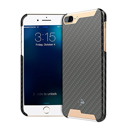 CORNMI iPhone 7 Plus Handmade Article Ultra Thin Luxury Pure Carbon Fiber Case for iPhone 7 Plus Cover + Free Tempered Glass Screen Protector With Gif…