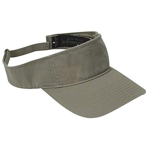(Dorfman Pacific Co. Men's Garment Washed Twill Visor, Khaki One Size)